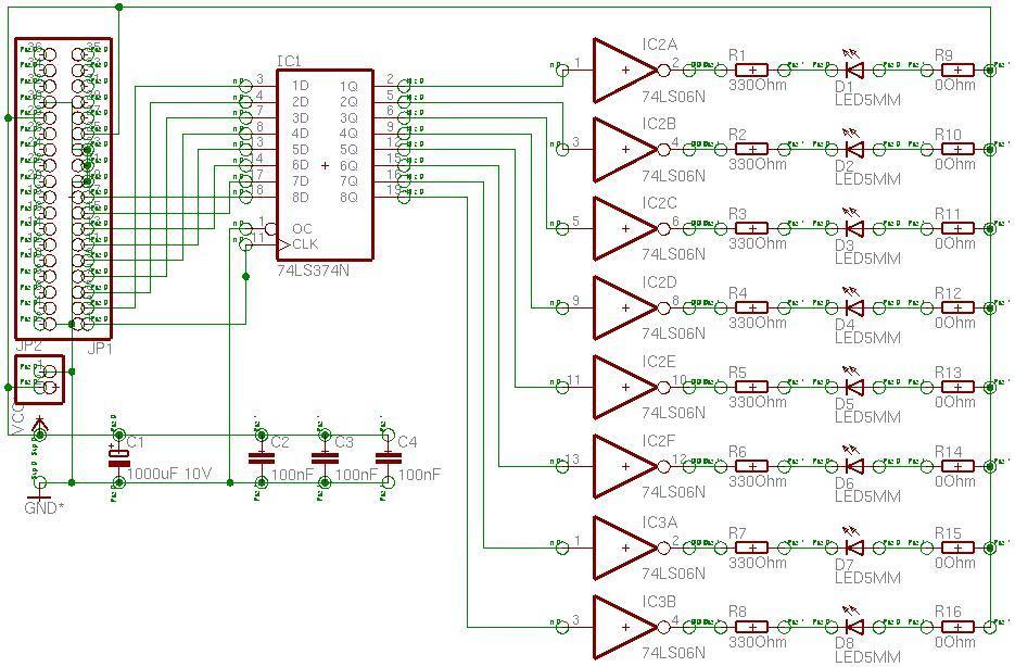 Vereinfachtes Interface, Steuerung eines Schrittmotors